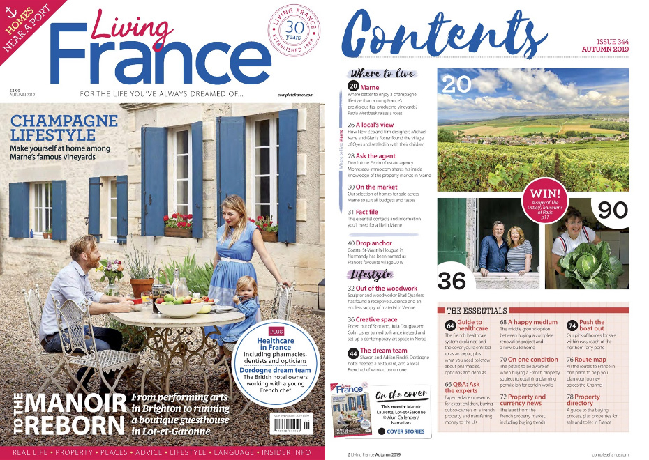 Double Page in Living France Magazine